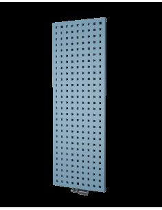 Vysoký radiátor na teplovodní ohřev v bílé barvě. Vertikální radiátor Velvet dodáváme v mnoha výškách i šířkách.