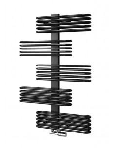 černý koupelnový žebřík - černý radiátor - radiátor do tmavé koupelny