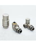 Angular thermostatic set